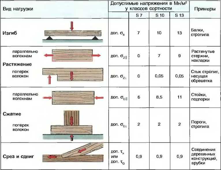 Классификация древесины по прочности